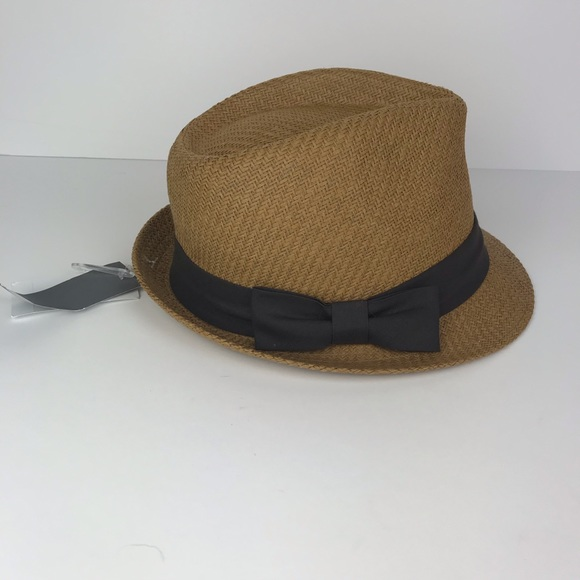 0a062d9f0d2a7 Scala Pronto Fedora Hat Brown Bow NWT
